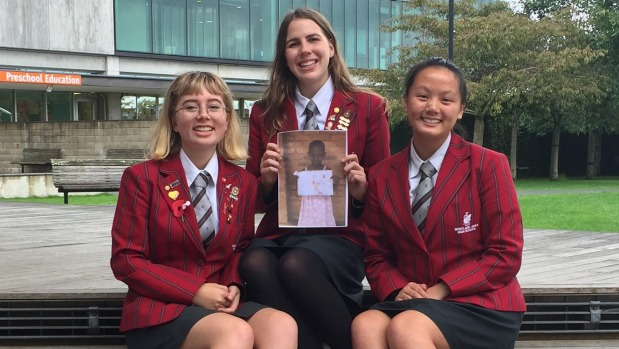 1492485843794 - Student trio hopes their Auckland school will sponsor child for life