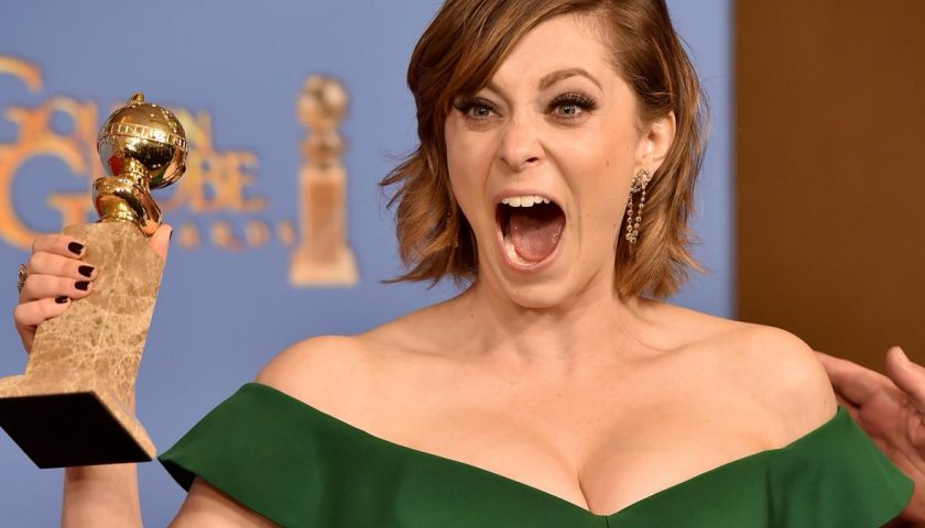 504398676 actress rachel bloom winner of best performance in a 840x480 - Watch Rachel Bloom and the Cast of Crazy Ex-Girlfriend Sing Their Way Into Emmy Voters' Hearts