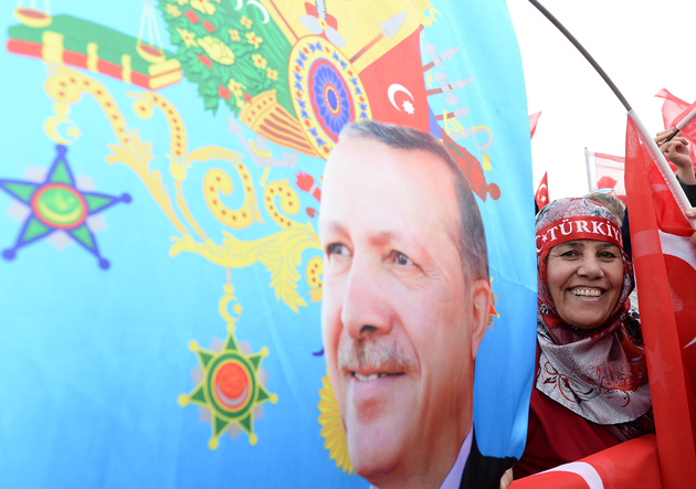 58fcac845aa02 president erdogan the rags to riches champion that europe hoped would steady turkey - President Erdogan Addresses Supporters - Ankara