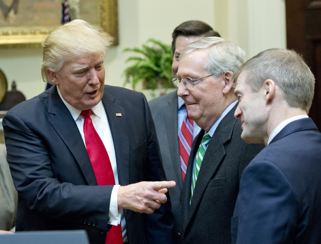 58ff501b32368 in unusual move trump summons entire senate to white house for north korea meeting - President Trump Signs H.J. Res. 38 - Washington