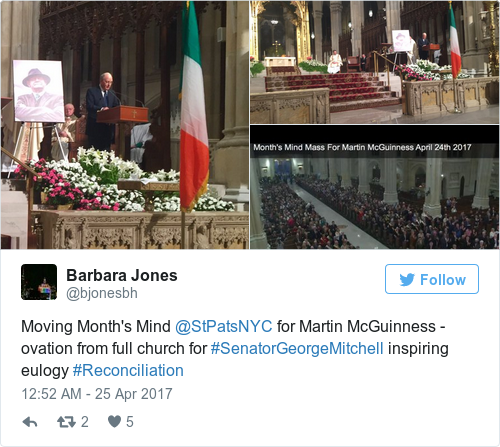 5f6c24dc5c20fce94e74011a06efaf6e - 'Courage and vision' of Martin McGuinness remembered at packed New York ceremony