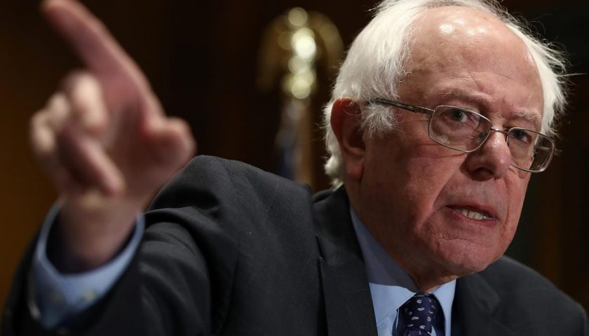 628291206 sen bernie sanders speaks at a press conference on 840x480 - Bernie Sanders' New Podcast Is a Hit on iTunes. Also, It's Awful.