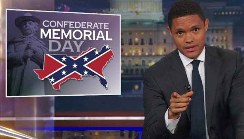 """dailyshow 840x480 - The Daily Show on Confederate Memorial Day: """"F—ed Up on So Many Levels"""""""