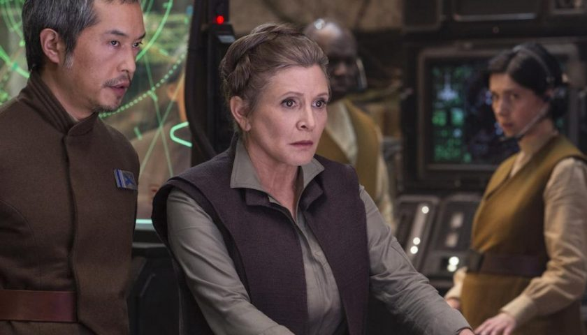 fisher 1 840x480 - Carrie Fisher Will Not Be in Episode IX After All and Other Star Wars Revelations From This Weekend