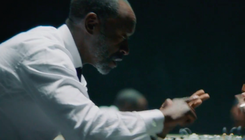 """kl2 840x480 - Watch Don Cheadle Rap Kendrick Lamar in the Video for """"DNA"""""""