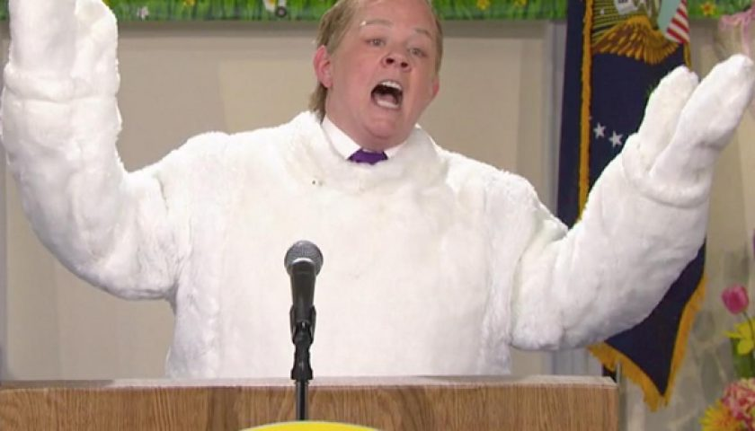 mccarthy 840x480 - Melissa McCarthy Reprises Her Role as Sean Spicer Reprising His Role as the White House Easter Bunny
