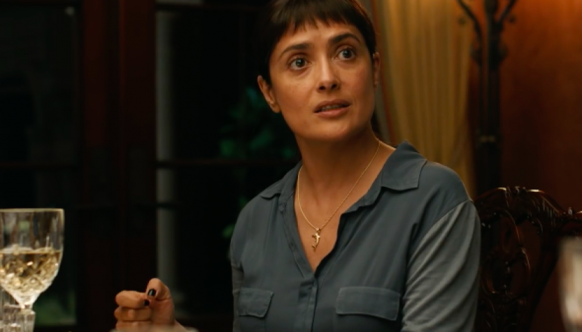 screen shot 20170413 at 9 840x480 - Salma Hayek and John Lithgow Undoubtedly Evoke the Trump Era in the Trailer for Beatriz at Dinner