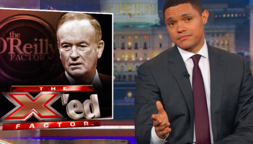 "screen shot 20170420 at 9 840x480 - The Daily Show Salutes ""Sith Lord of Cable News"" Bill O'Reilly by Compiling His Angriest and Most Racist Moments"