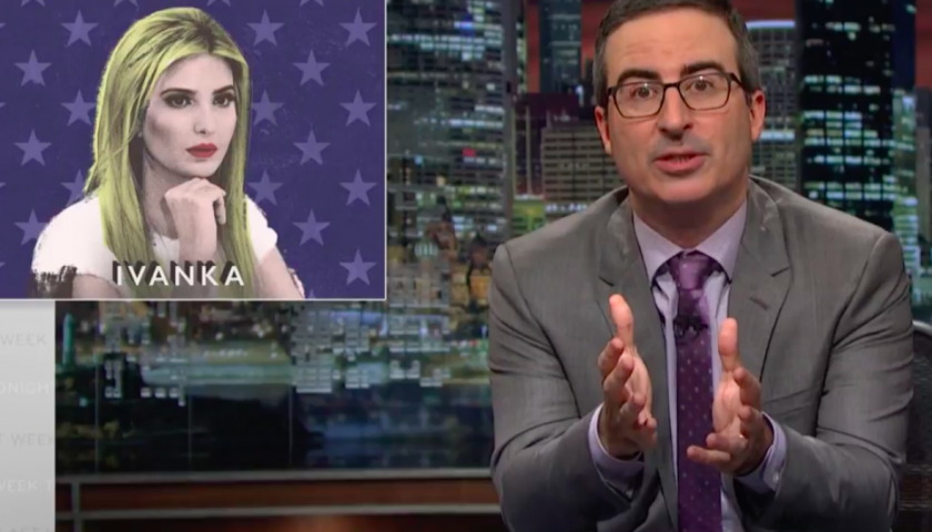 """screen shot 20170424 at 8 840x480 - John Oliver Warns Liberals Not to Trust Ivanka Trump: """"The Apple Does Not Fall Far From the Orange"""""""