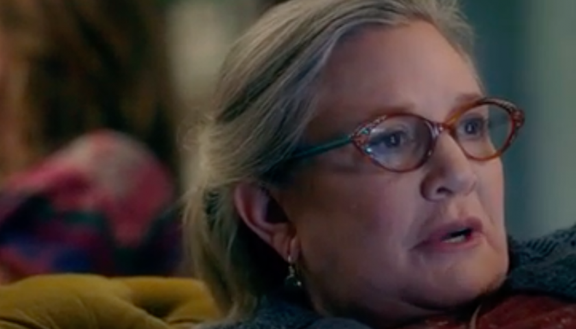 screen shot 20170428 at 10 840x480 - Watch a Hilarious Sneak Peek of Carrie Fisher's Finale Performance in Catastrophe Season 3