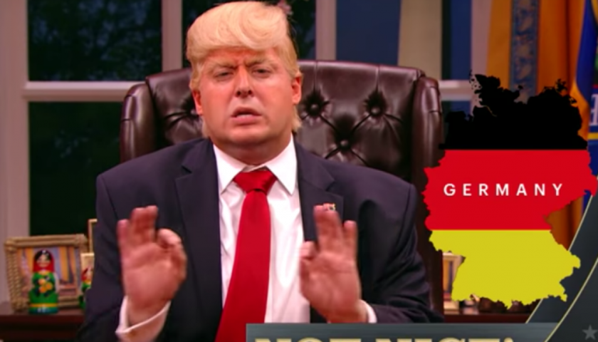 """screen shot 20170428 at 9 840x480 - Donald Trump Draws Up a""""Nice! Not Nice!"""" List on The President Show"""