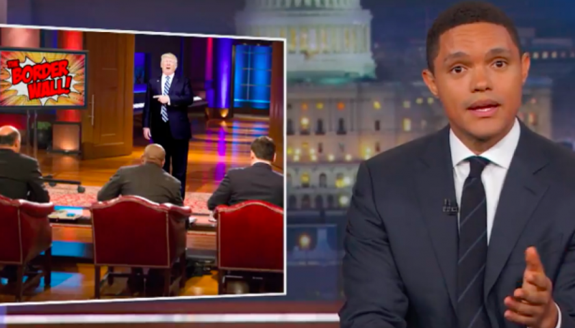 screen shot 20170502 at 12 840x480 - Congress Won't Pay for Trump's Wall Either, so Trevor Noah Suggests He Try Kickstarter orShark Tank